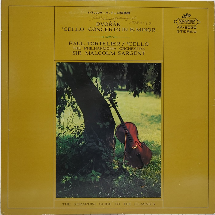 DVORAK / CELLO CONCERTO IN B MINOR, OP.104 PAUL TORTELIER(수입)
