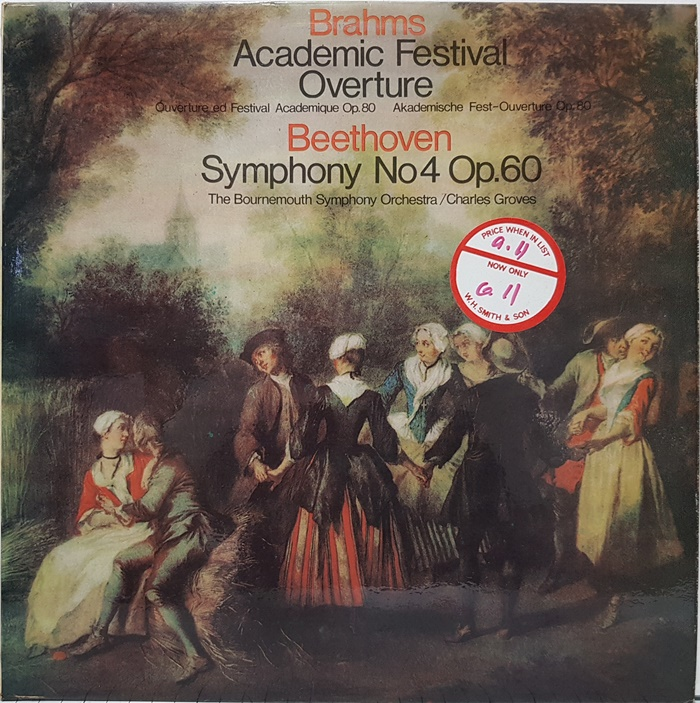 BRAHMS Academic Festival Overture Op.80 / BEETHOVEN Symphony No.4 in B Flat Major Op.60(수입)