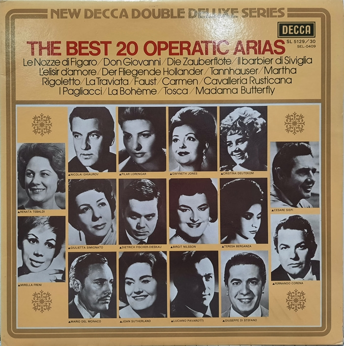 THE BEST 20 OPERATIC ARIAS 2LP